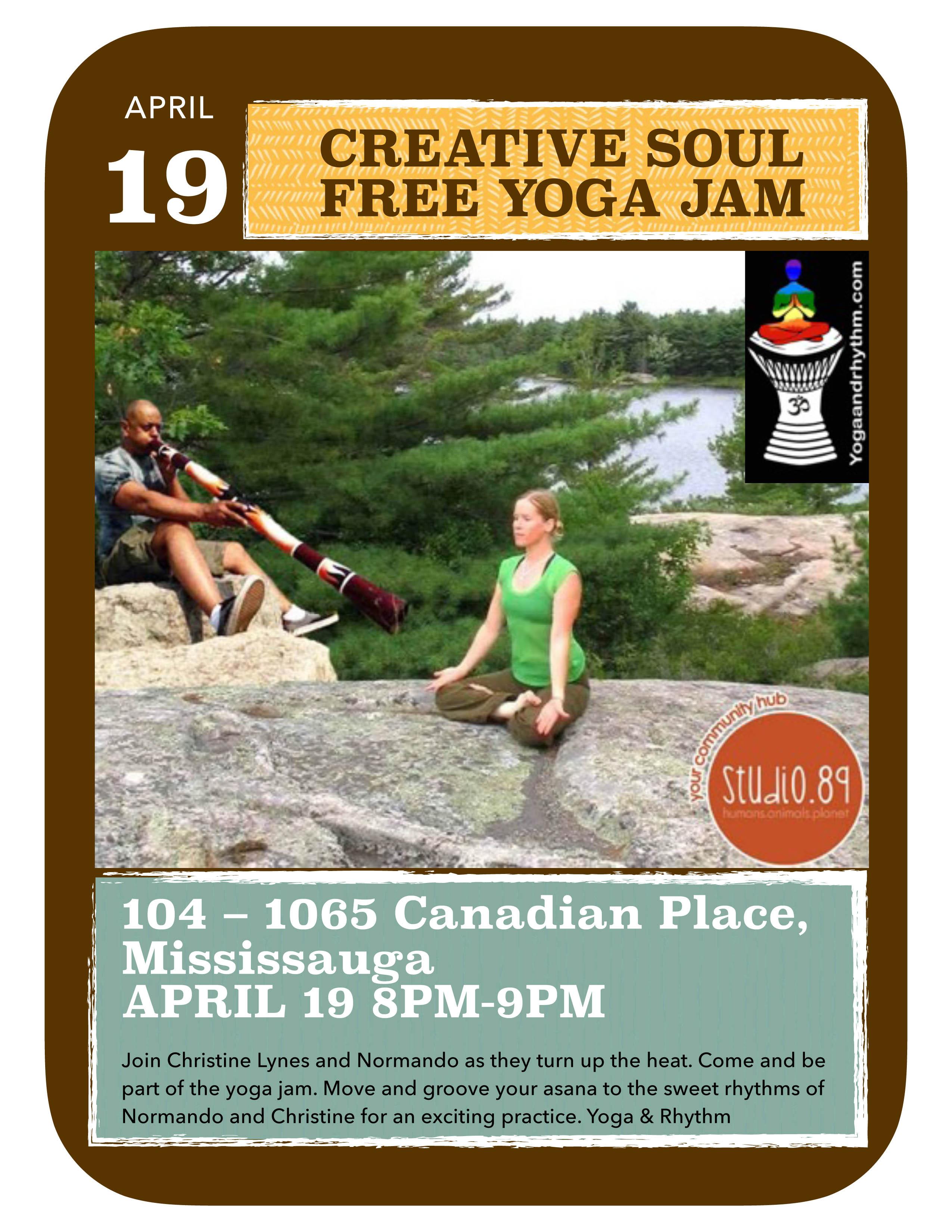 Creative Soul Free Yoga Jam