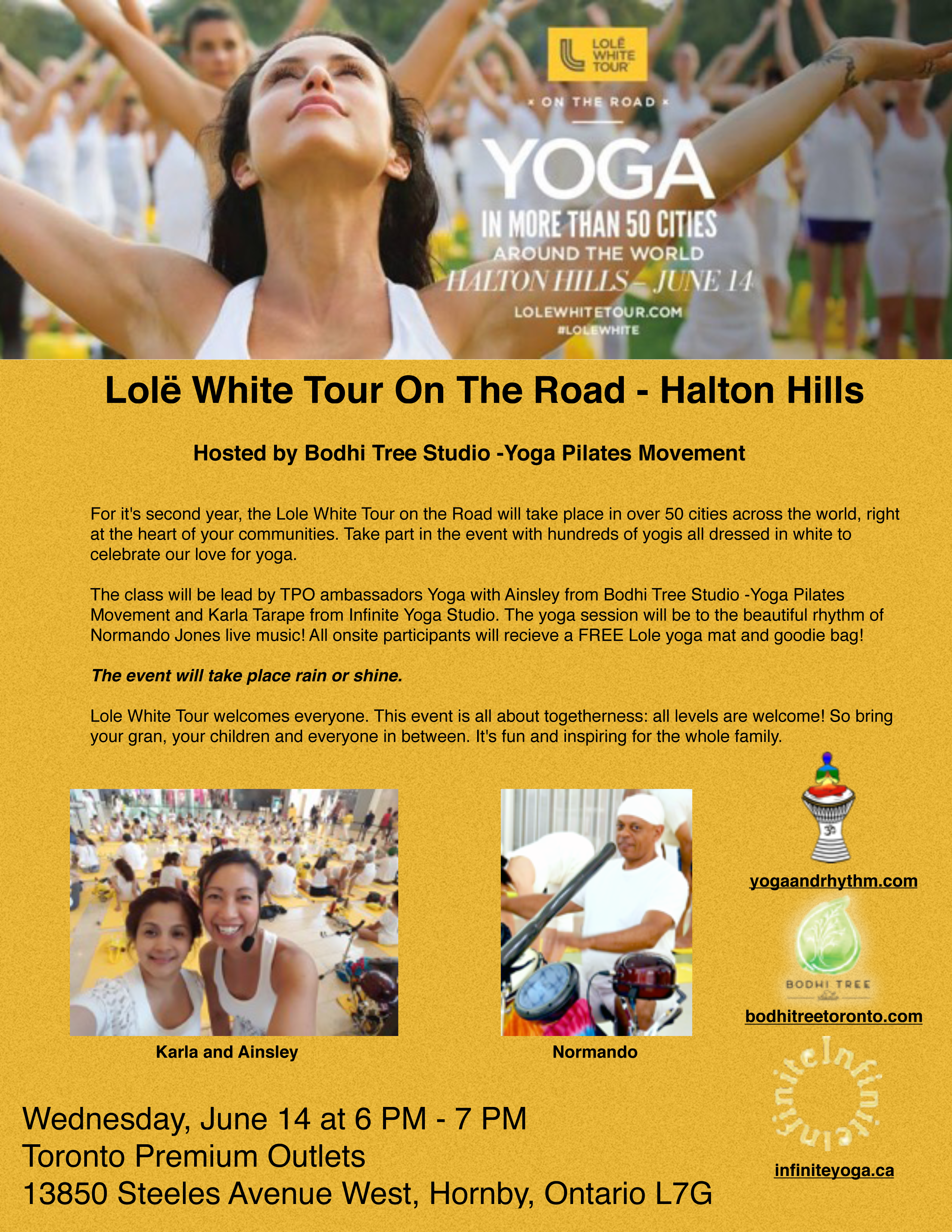 Lolë White Tour On The Road – Halton Hills