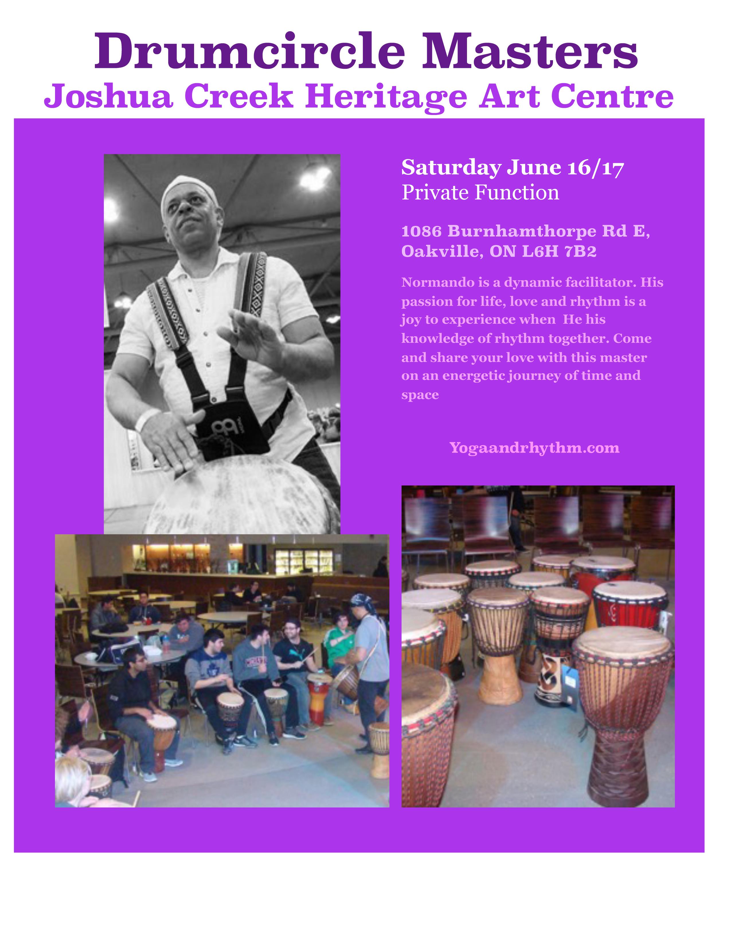 Drum Circle Joshua Creek Heritage Art Center (Private Event)
