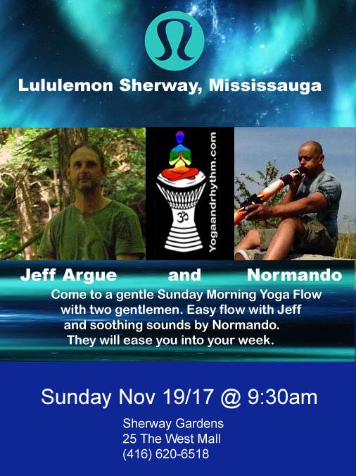 Lululemon Sherway Gardens Sunday Nov 19/17 @ 9:30am