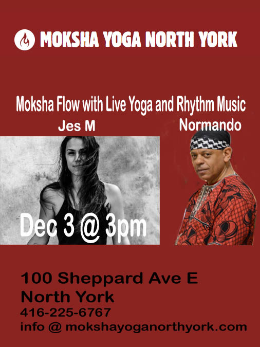 Moksha Yoga North York Dec 1 @ 3PM