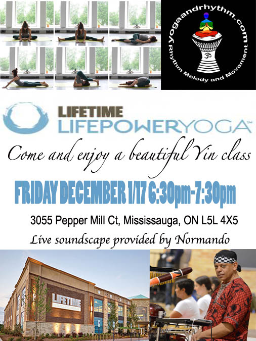 LIFETIME ATHLETICS MISSISSAUGA 6:30PM-7:30PM YIN CLASS