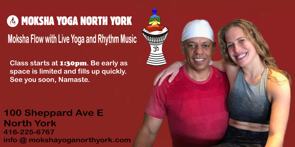 Moksha Yoga North York March 3/18 1:30pm